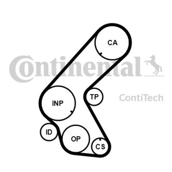 Contitech Distributieriem kit CT1078K1