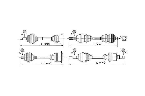 Bodermann Aandrijfas BM654545161