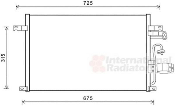 Van Wezel Airco condensor 81005137