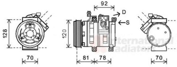 Van Wezel Airco compressor 8100K099