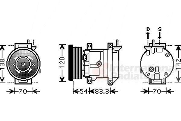 Van Wezel Airco compressor 8100K071