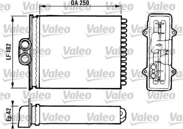 Valeo Kachelradiateur 812118