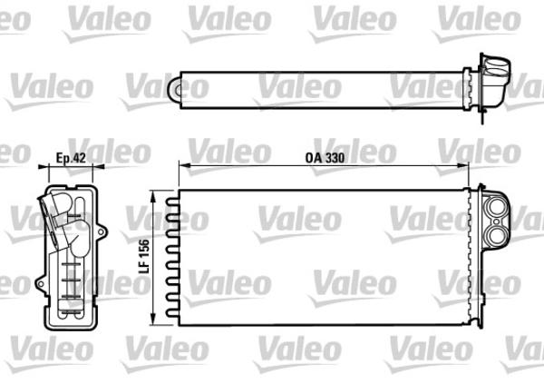 Valeo Kachelradiateur 812128