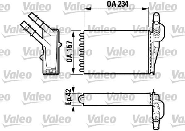 Valeo Kachelradiateur 812169