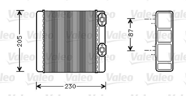 Valeo Kachelradiateur 812348