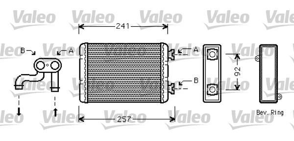 Valeo Kachelradiateur 812360