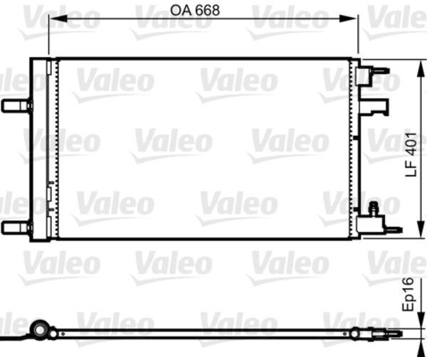 Valeo Airco condensor 814202