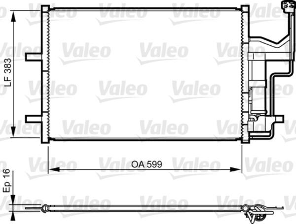 Valeo Airco condensor 814216
