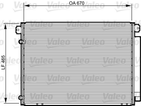 Valeo Airco condensor 814239