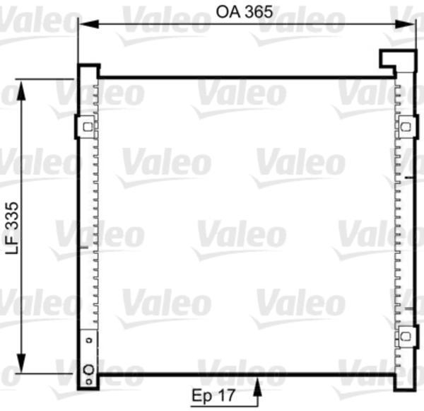 Valeo Airco condensor 814326