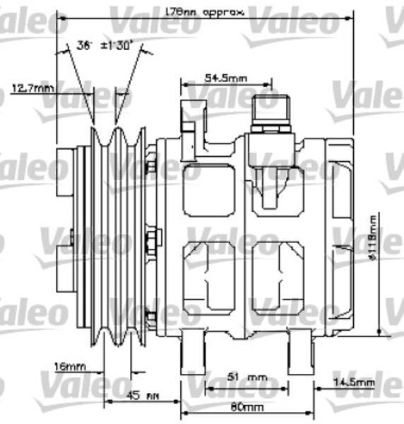 Valeo Airco compressor 815817