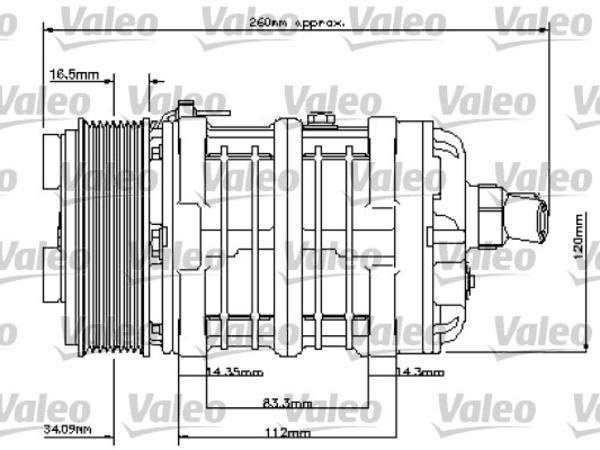 Valeo Airco compressor 815850