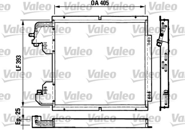 Valeo Airco condensor 816782