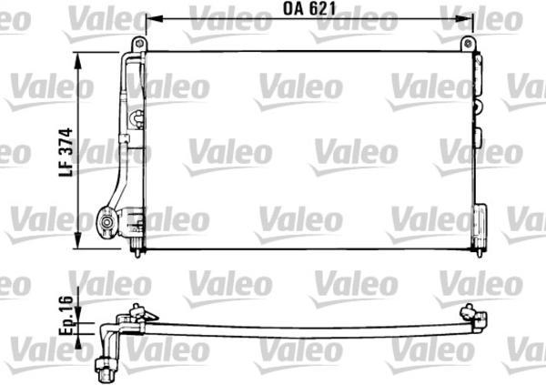 Valeo Airco condensor 816882