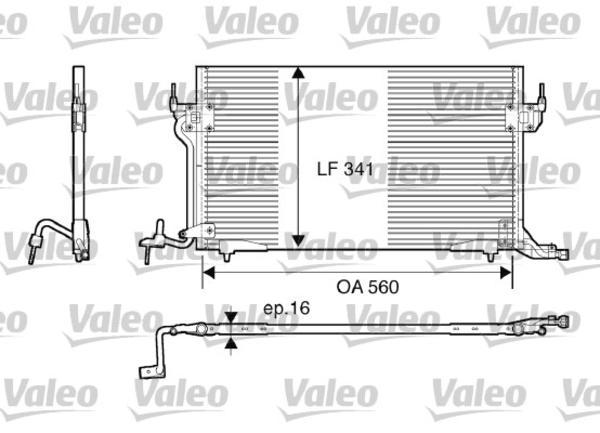 Valeo Airco condensor 816888