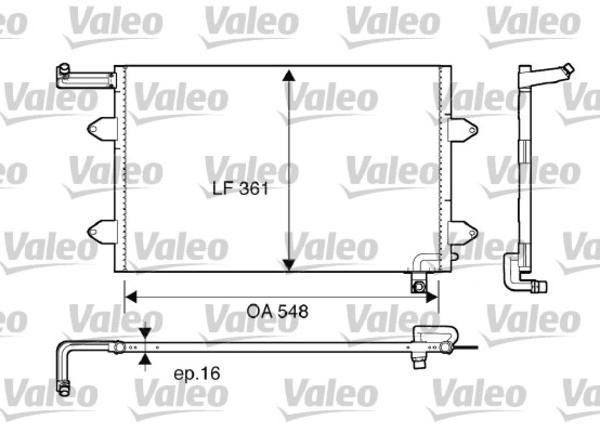 Valeo Airco condensor 816910