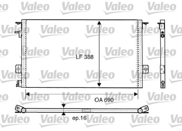 Valeo Airco condensor 816945
