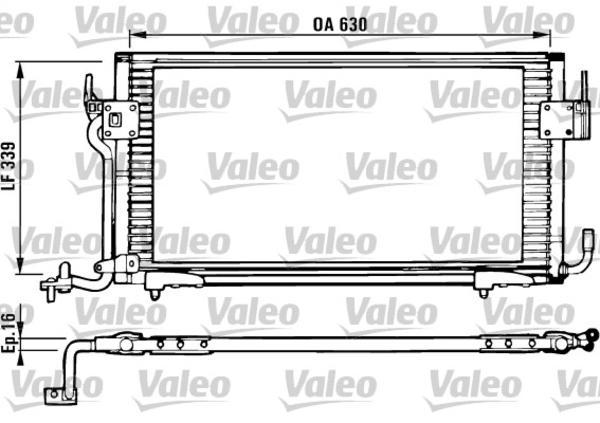 Valeo Airco condensor 816984