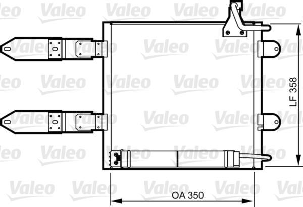 Valeo Airco condensor 817247