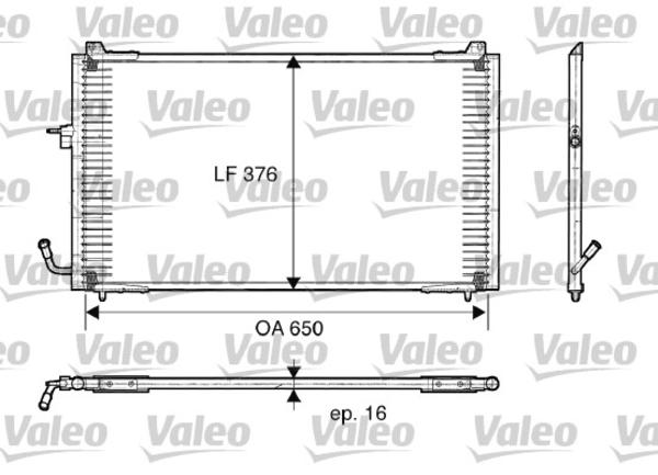Valeo Airco condensor 817375