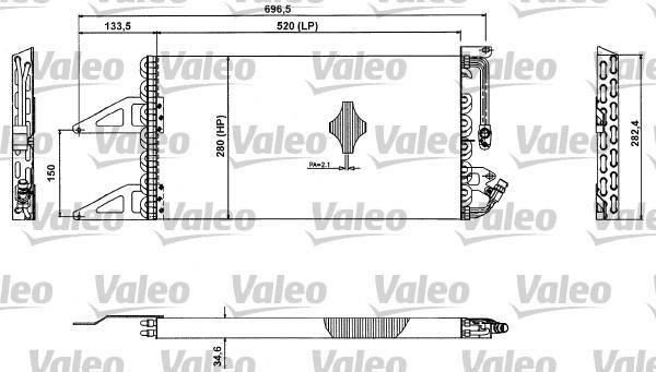 Valeo Airco condensor 817412
