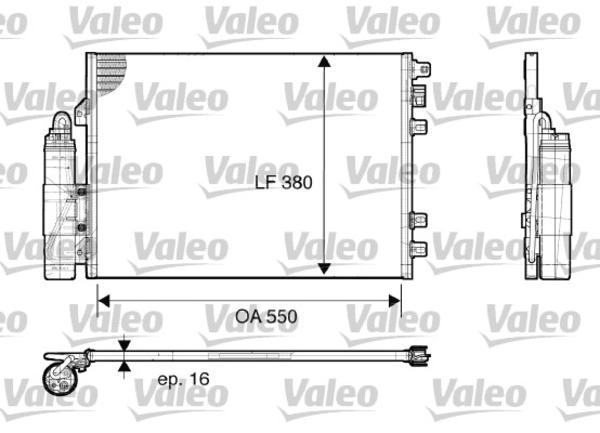 Valeo Airco condensor 817661