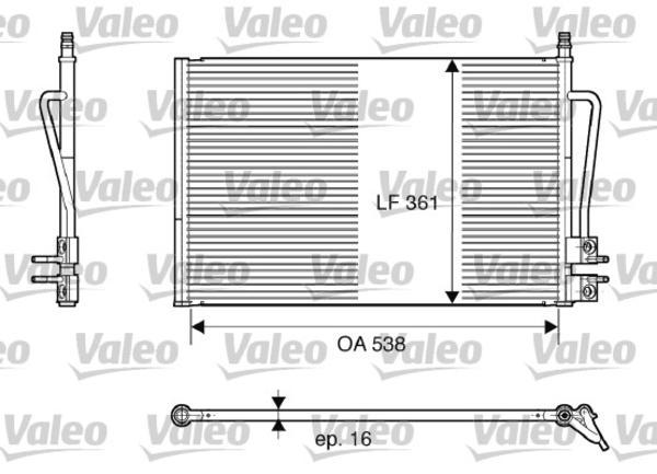 Valeo Airco condensor 817664