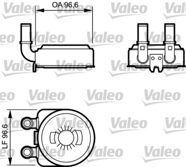 Valeo Oliekoeler motorolie 817705