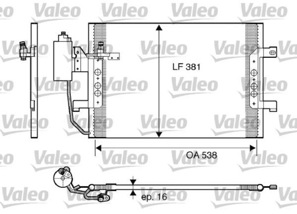 Valeo Airco condensor 817841