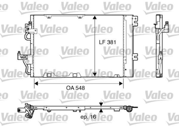 Valeo Airco condensor 817846