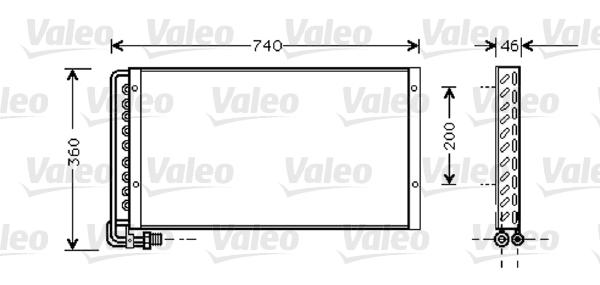 Valeo Airco condensor 818040