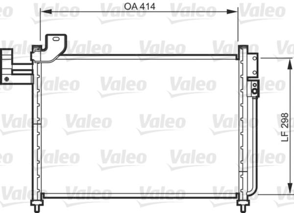 Valeo Airco condensor 818088