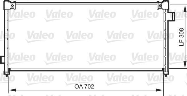 Valeo Airco condensor 818101