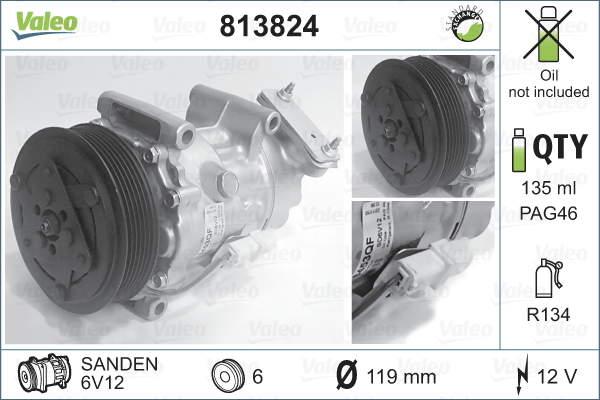 Valeo Airco compressor 813824