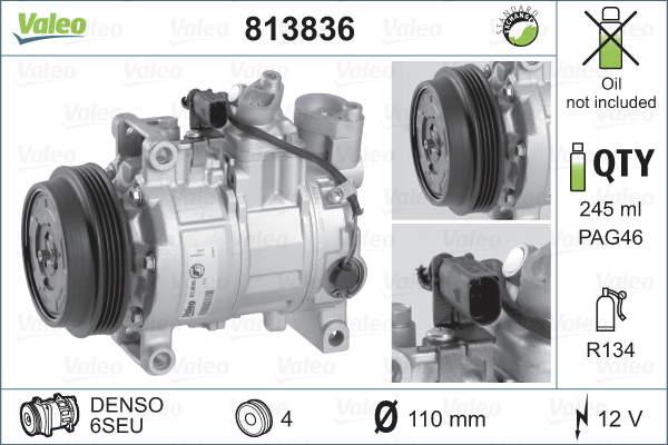 Valeo Airco compressor 813836