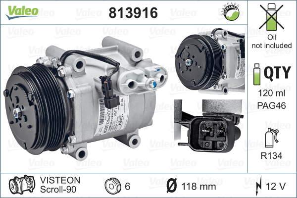 Valeo Airco compressor 813916