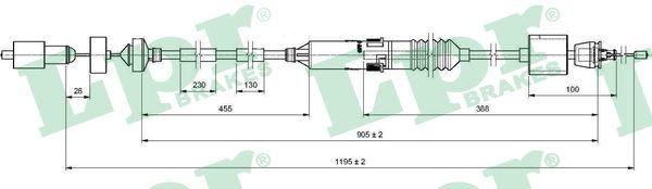 Lpr Koppelingskabel C0200C